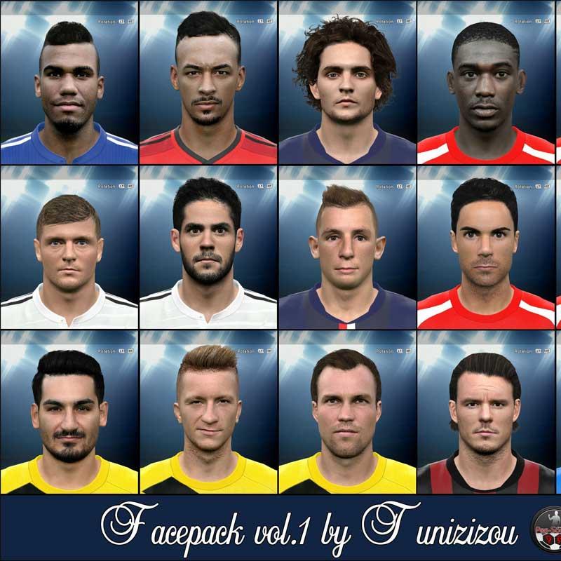 دانلود فیس پک PES 2015 Faces Pack V1