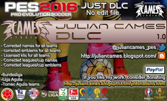 پچ  JulianCamesDLC برای Pes 2016