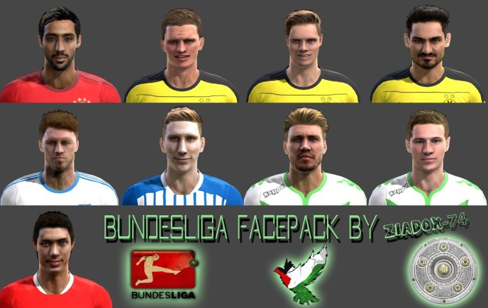 فیس پک جدید PES 2013 Bundesliga Facepack
