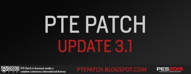 دانلود آپدیت  پچ  PTE Patch v3.1 برای PES2016 آموزش ویدیویی اظافه شد