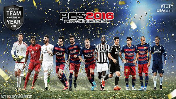استارت اسکرین تیم منتخب جهان برای PES 2016