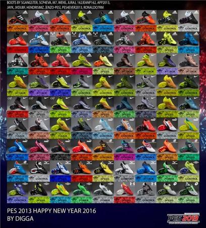 پک کفش جدید  سال نو میلادی برای PES2013