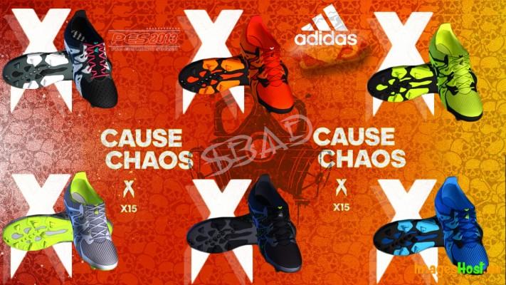 دانلود پک کفش Adidas X15 برای PES2013