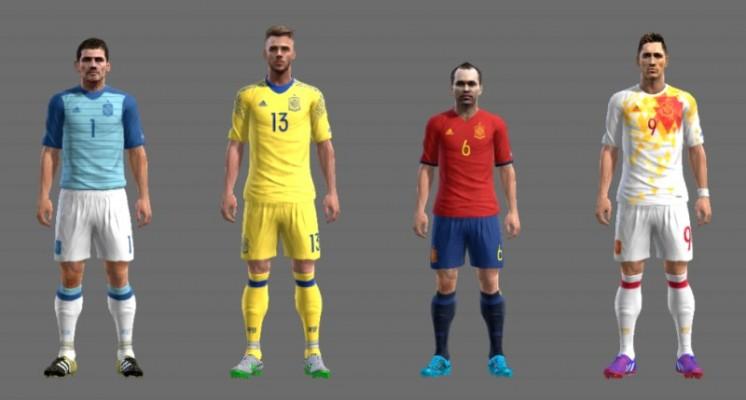 کیت پک یورو 2016 تیم اسپانیا برای PES2013