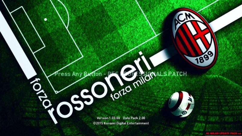 آپدیت پک تیم Milan برای PES2016