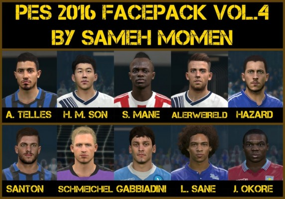 فیس پک جدید بازیکنان vol. 4 برای PES2016