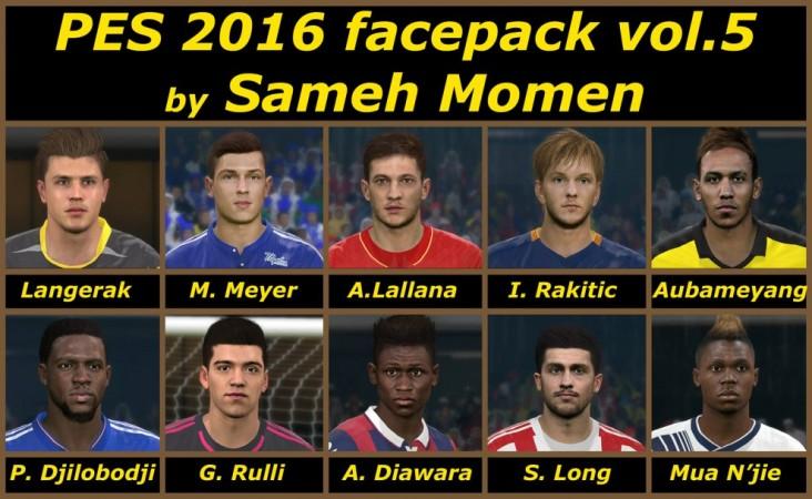 فیس پک جدید vol. 5 برای PES2016