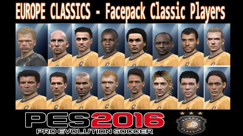 فیس پک بازیکنان کلاسیک برای PES 2016