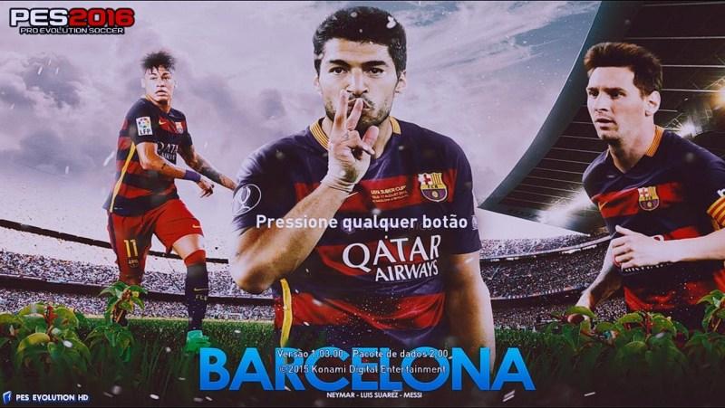 استارت اسکرین بارسلونا برای PES 2016