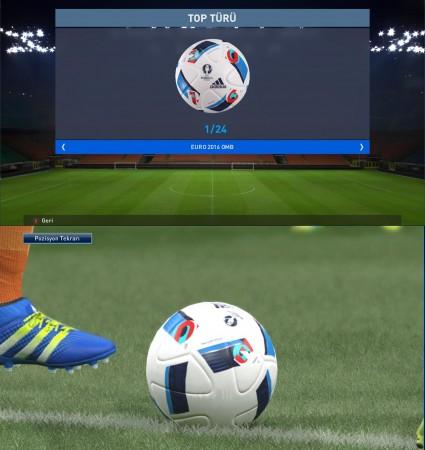 توپ یورو 16 برای PES 2016
