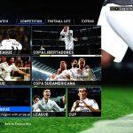 منوی گرافیکی Real Madrid برای PES 2016