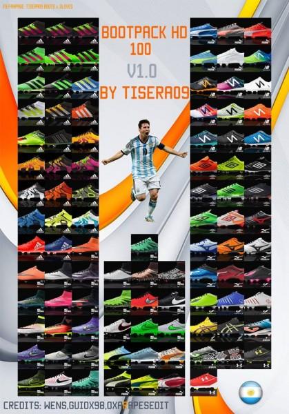 پک کفش (شامل 100 بوت) برای PES 2016