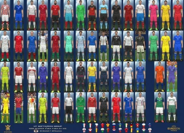 کیت پک تیم های یورو 16 برای PES 2016