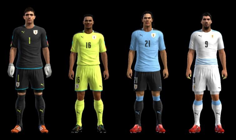 کیت پک تیم Uruguay برای PES 2013