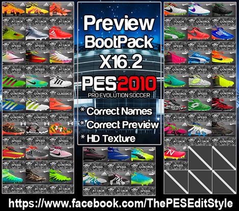 Bootpack x16.2 برای PES2010