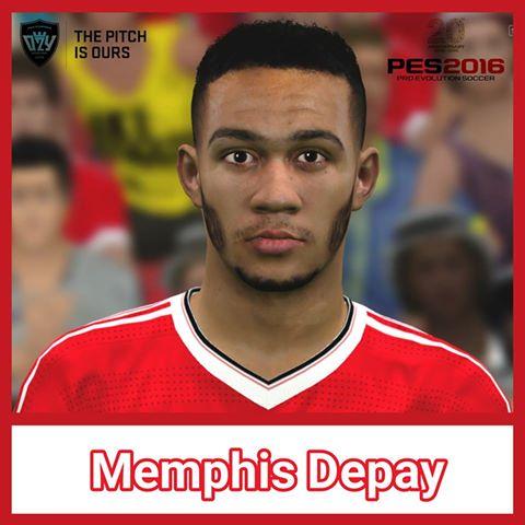 دانلود فیس جدید Memphis Depay برای PES 2016