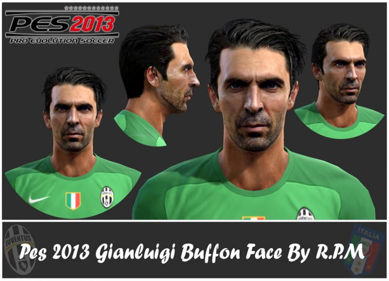 """دانلود فیس  """"Gigi"""" Buffon برای PES 2013"""