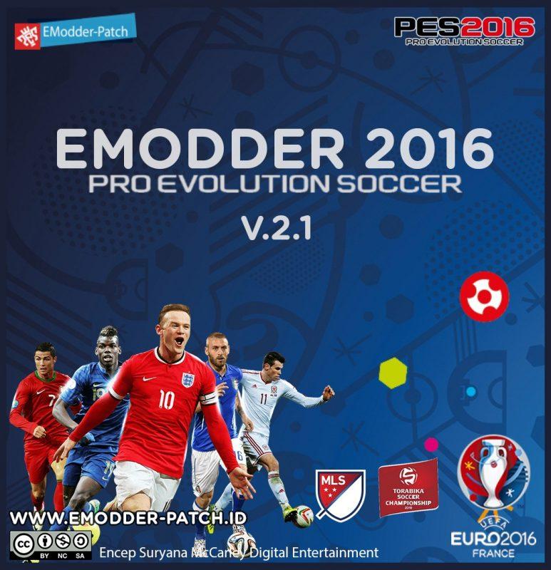 آپدیت جدید پچ Emodder v2.1 برای PES 2016