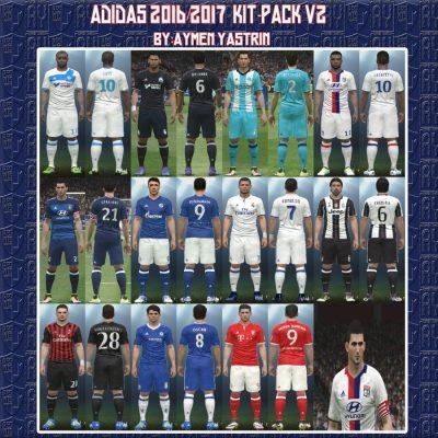 کیت پک Adidas 2016-2017 برای PES 2016