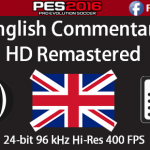 گزارشگر انگلیسی و زبان HD برای PES 2016 (درخواست کاربران)