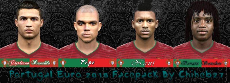 دانلود مینی فیس تیم پرتغال یورو 16 برای PES 2016