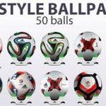 پک توپ 50 تایی G-Style برای PES 2017