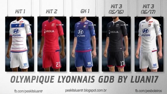 کیت پک تیم Olympique Lyon برای PES 2013