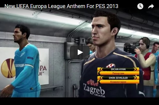 دانلود سرود لیگ اروپا برای PES 2013