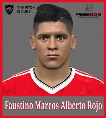 دانلود فیس Marcos Rojo برای PES 2016