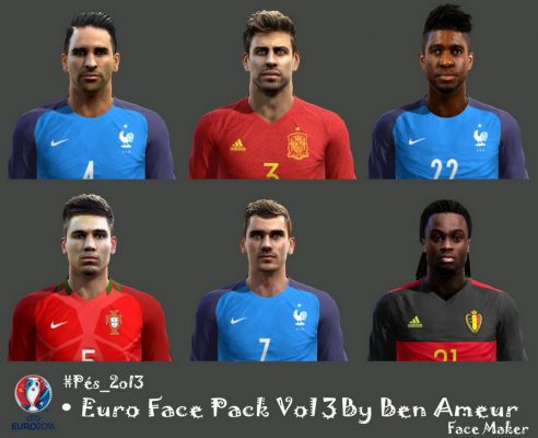 فیس پک یورو 2016 برای PES 2013