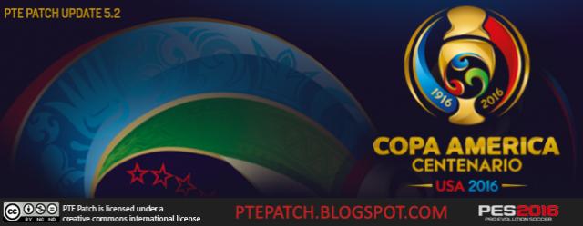 آپدیت پچ PTE Patch 5.2 – Copa America 2016 برای PES2016