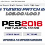 پچ Tuning Patch ورژن 1.05.00.4.00.1 ( AIO ) برای PES 2016