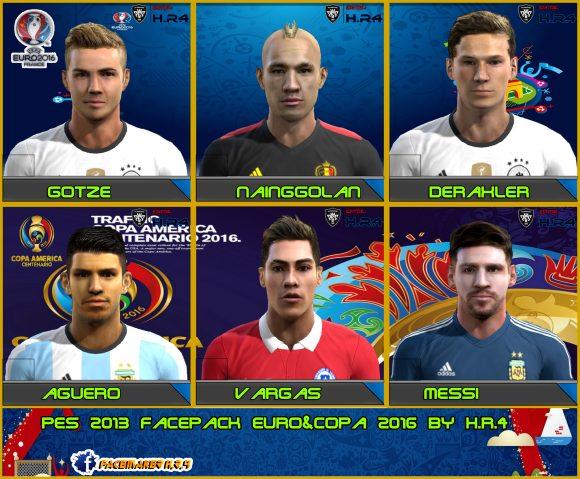 فیس پک کوپا آمریکا و یورو 2016 برای PES2013
