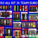 کیت پک تیم های حاضر در یورو 2016 برای PES2013