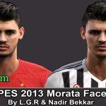 دانلود فیس جدید Álvaro Morata برای PES 2013