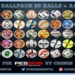 دانلود پک 50 توپ نسخه 3 برای PES 2016