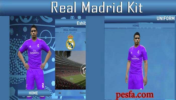 دانلود لباس دوم رئال مادرید سال 2016/17 برای PES 2016