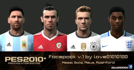 فیس پک جدید ورژن 1 برای PES2010