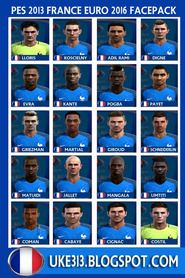 فیس پک فرانسه برای PES 2013 (ویژه فینال یورو)