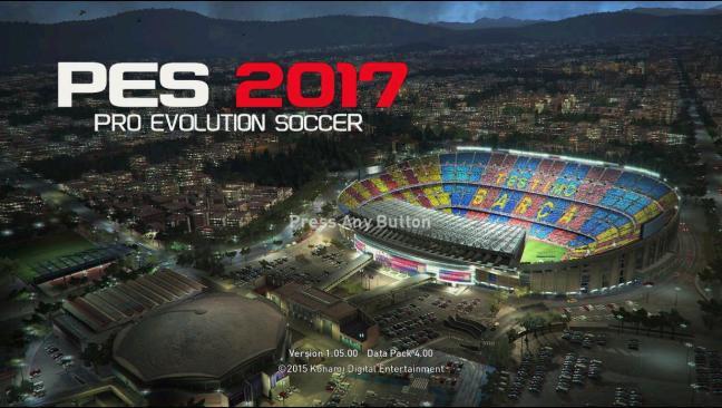 استارت اسکرین رسمی PES 2017 برای PES 2013