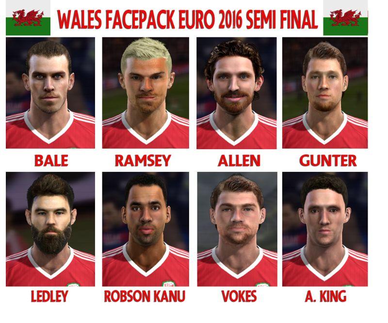 فیس پک تیم ملی ولز برای PES 2013