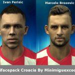 مینی فیس پک تیم ملی کرواسی برای Pes 2013