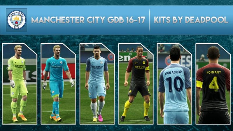 فول کیت پک رسمی Man City 2016/17 برای PES 2013