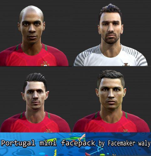 دانلود مینی فیس پک تیم ملی پرتغال برای PES 2013  (ورژن 1)