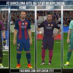 کیت پک بارسلونا 17-16 برای Pes 2016