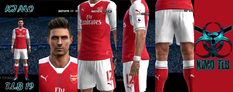 کیت پک 16/17 Arsenal برای PES 2013