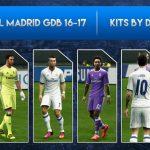دانلود لباس رسمی Real Madrid سال 17-2016 برای PES 2013