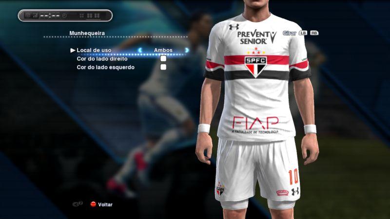 کیت پک تیم São Paulo فصل 2016/17 برای Pes 2013