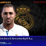 فیس جدید بازیکن K. Benzema برای Pes 2013
