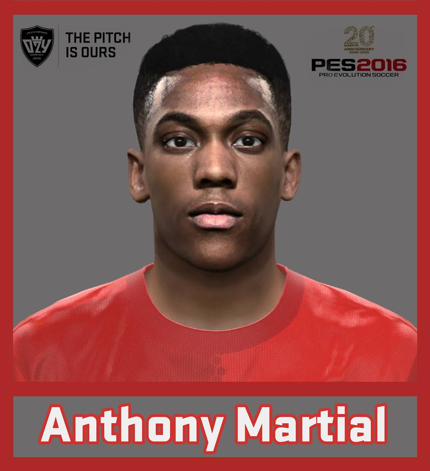 فیس بازیکن Anthony Martial برای Pes 2016